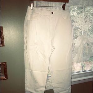 Talbots size 10 white denim.